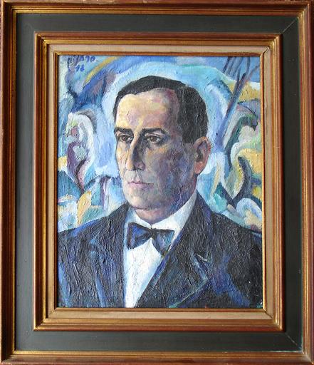 Eduardo PISANO - 绘画 - Portrait d'homme - Retrato o  bien autorretrato?