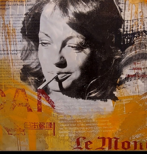Devin MILES - Estampe-Multiple - Romy Schneider Le Monde
