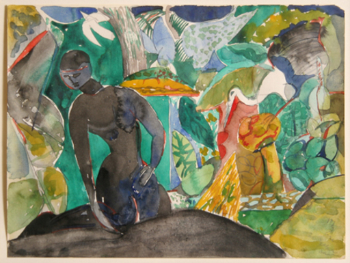 Romare Howard BEARDEN - Painting - Figures in the Jungle