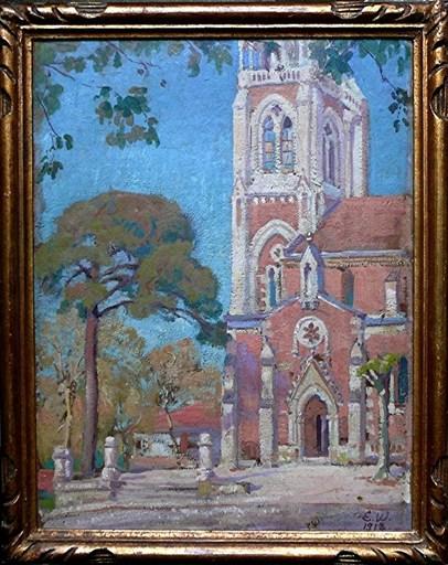 "Lili ELBE - Painting - Basilica "" NotreDame"" to Arcachon"