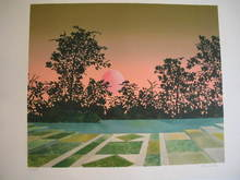 Pierre GARCIA-FONS - Grabado - Soleil couchant,1983.