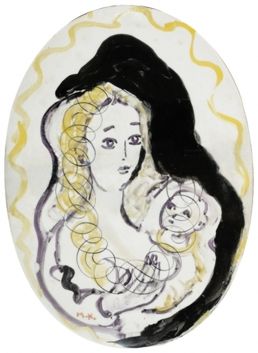 MANÉ-KATZ - Ceramic - Mother and Child