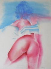 Helmut PREISS - Drawing-Watercolor - Knackiger Hintern