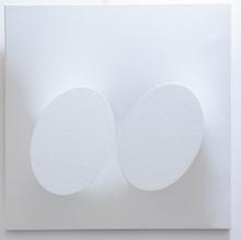 Turi SIMETI - Pintura - Due ovali bianchi