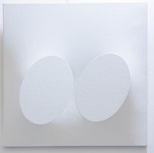Turi SIMETI - Painting - Due ovali bianchi