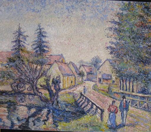 Hugues Claude PISSARRO - Gemälde - *Saint Jean Pres de Loches