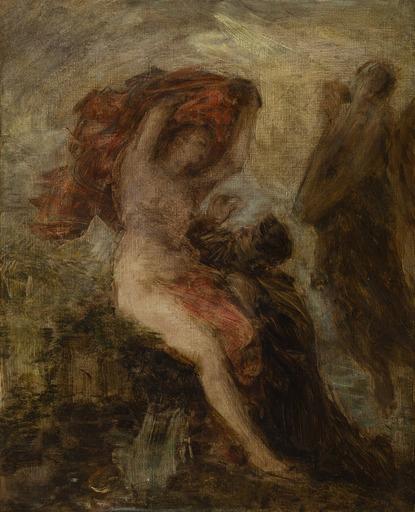 Henri-Théodore FANTIN-LATOUR - Pintura - L'Homme entre le Vice et la Vertu