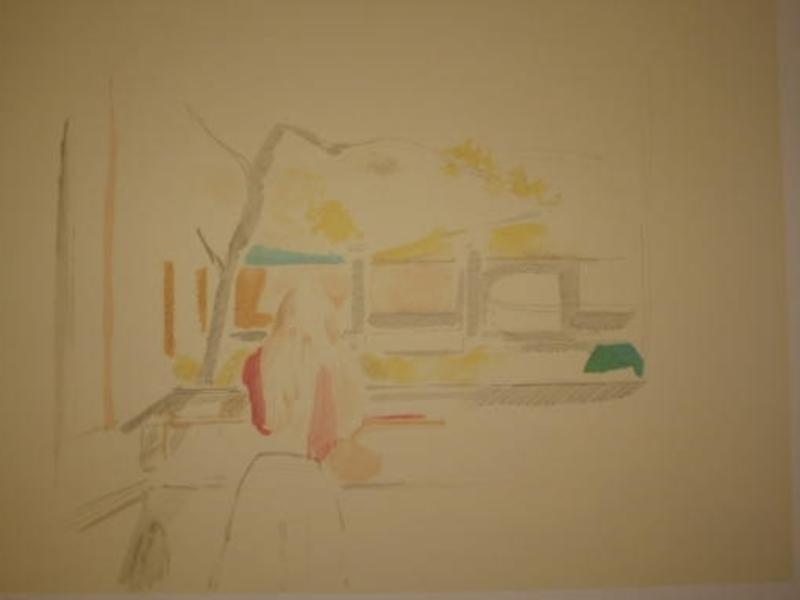 BALTHUS - Print-Multiple - Jeune fille à la fenêtre,1992.