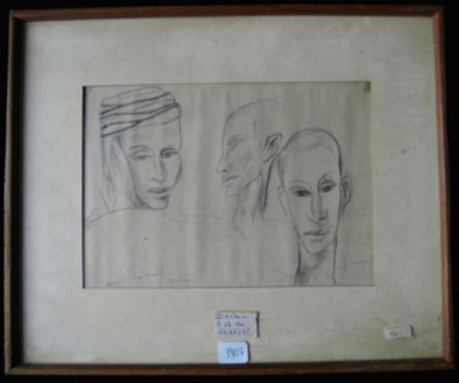 André MARCHAND - Pintura - Etude visage Biskra