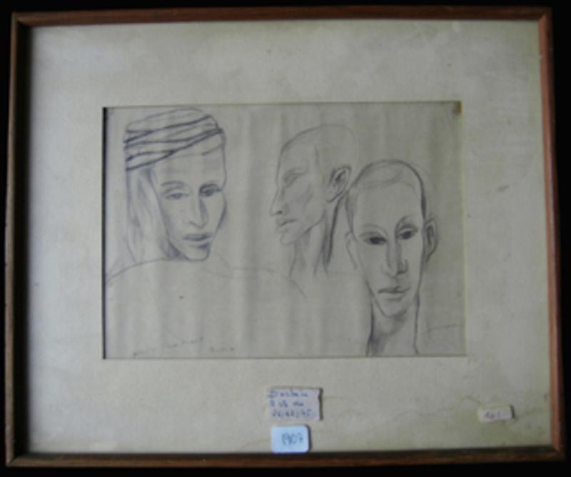 André MARCHAND - Painting - Etude visage Biskra