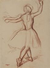 Edgar DEGAS - Dibujo Acuarela - Danseuse de dos