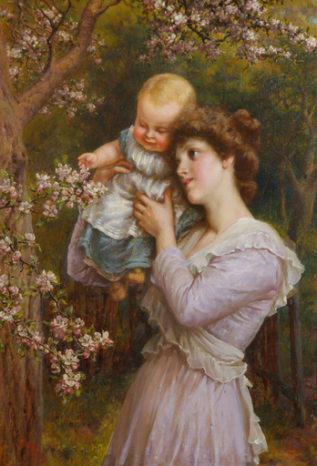 Eva HOLLYER - Pintura - Gathering Blossom