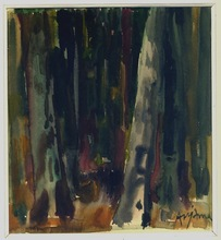 Jean AUJAME - Dibujo Acuarela - La forêt