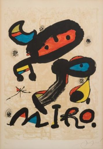 Joan MIRO - Estampe-Multiple - Affiche pour exposition au Musée d'art moderne de Mexico