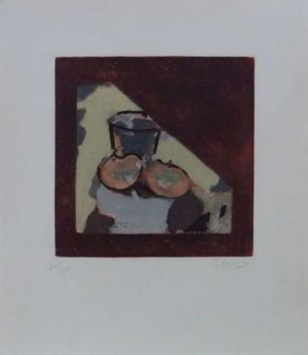 Georges BRAQUE - Stampa-Multiplo - Nature morte oblique
