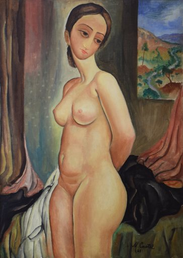 Moshé Elazar CASTEL - Peinture - Nude
