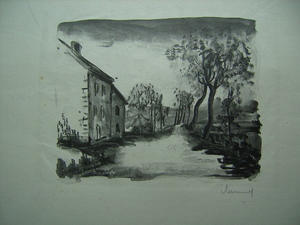 Maurice DE VLAMINCK - Stampa Multiplo - Nelle-la-Vallée, le Chemin aux Bords de Sausseron