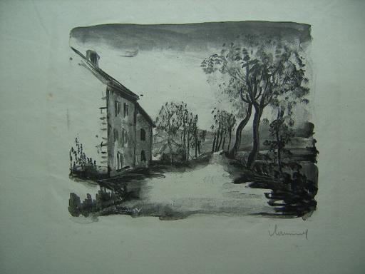 莫里斯•德•弗拉芒克 - 版画 - Nelle-la-Vallée, le Chemin aux Bords de Sausseron