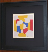 Serge POLIAKOFF - Print-Multiple - Composition grise  jaune rouge bleue