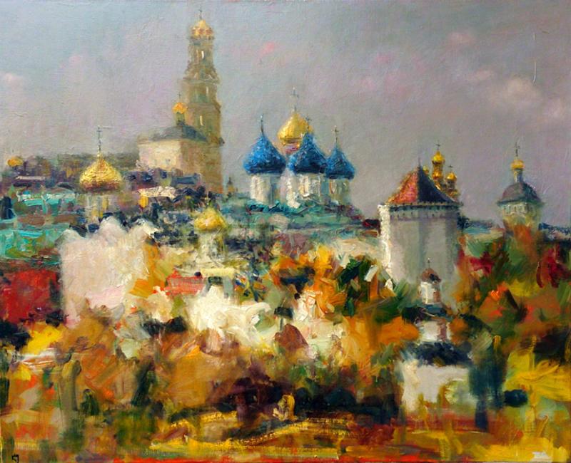 Levan URUSHADZE - 绘画 - The Holy Trinity St. Sergius Lavra. Sergiev Posad