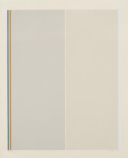 Gene DAVIS - 版画 - Homage to Barnett Newman
