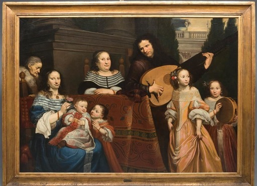 Jan DE BRAY - Pittura - Ritratto di famiglia