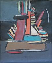 MA Qun - Peinture - La Bibliothèque