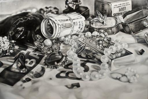Kate BRINKWORTH - Peinture - The Thief (Black and White No. 3)