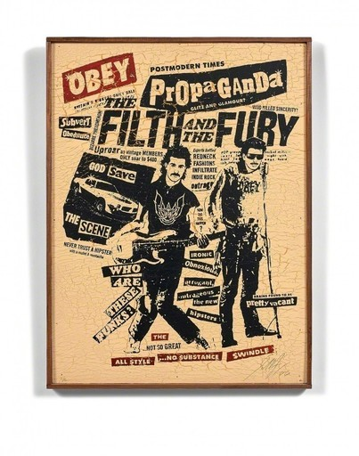 Shepard FAIREY - Stampa-Multiplo - The filth and the fury