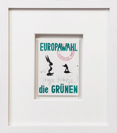 Joseph BEUYS - Grabado - Der Unbesiegbare. Europawahl - die Grünen