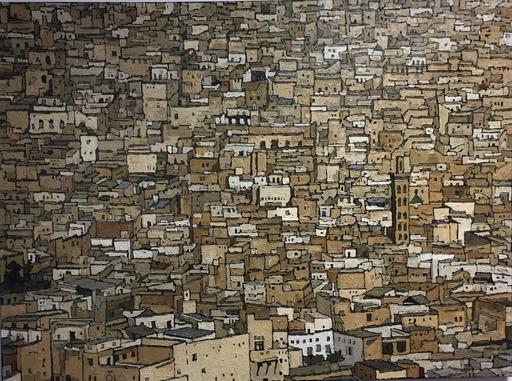 Olivier LAVOREL - Pittura - 1704 - Medina de Fez
