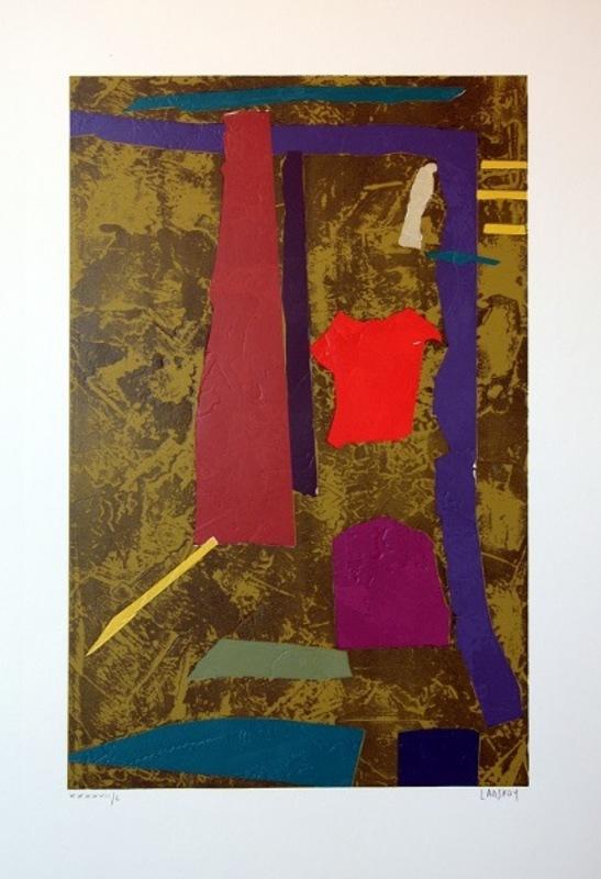 André LANSKOY - Stampa-Multiplo - Abstrakte Komposition