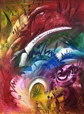 Shijo Alan BURNER - Gemälde - Triomphante