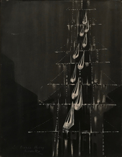 Cesare PEVERELLI - Pintura - L'Ascensore, 70s