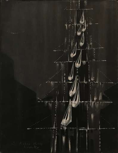 Cesare PEVERELLI - Peinture - L'Ascensore, 70s