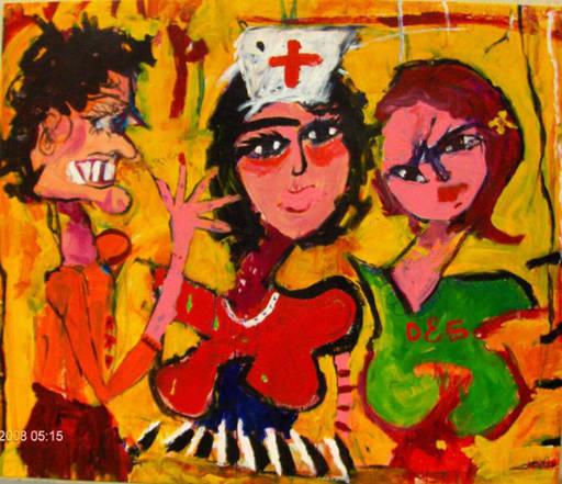 Astolfo FUNES - Painting - LA INFERMIERA