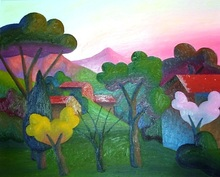 SALVO - Peinture - Una Sera