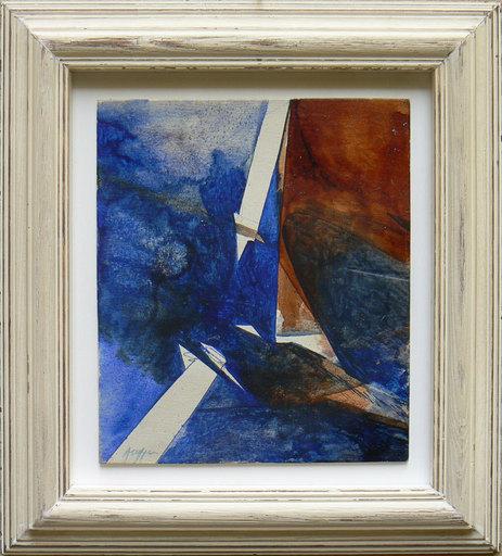 Piero RUGGERI - Painting - Paesaggio con fulmine NF160