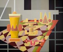 Enrique Rodriguez GUZPENA - Painting - Gris, picota y taco