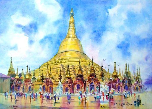 MYA THAUNG - Drawing-Watercolor - Swe Dagon Pagoda