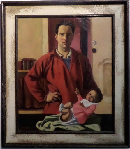 Jacques DORMONT - Peinture - L'artiste et son enfant