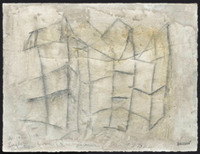 Pierre Marie BRISSON - Dibujo Acuarela - Architecture Brisonnienne II