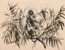 "Pavel TCHELITCHEW (1898-1957) - Study for ""Hide and Seek"""