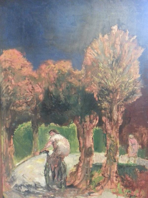 Henri ESPINOUZE - 绘画 - La bicyclette