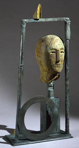 Mimmo PALADINO - Escultura - Testa Con O