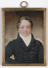 "Jean-Baptiste AUGUSTIN (Attrib.) - Dibujo Acuarela - ""French Gentleman"", miniature on ivory, 1805/10"