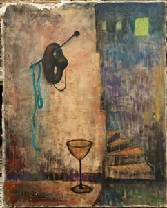 "Jean MONTAUBIN - Painting - ""LE MASQUE"""