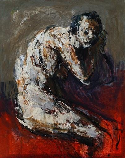 François RIEUX - Painting - LA REVEUSE 1