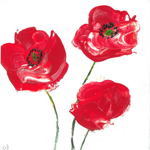 Lillie PIRVELLIE - Painting - Easy Poppies
