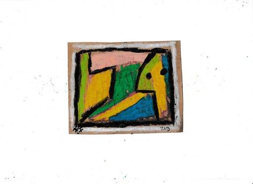 Harry BARTLETT FENNEY - Drawing-Watercolor - abstrait sur jardin  (2)